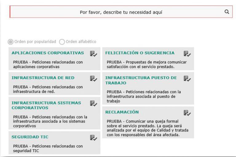 Catálogo de Servicios TIC